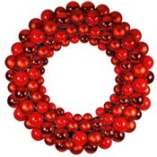 2' Red Ornament Wreath