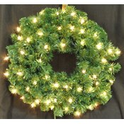 2' Pre-Lit Incandescent Clear Sequoia Wreath