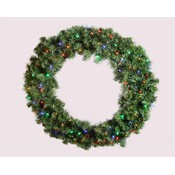2' Pre-Lit LED Multi Sequoia Wreath