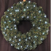 2' Pre-Lit Battery Operated LED Sequoia Wreath