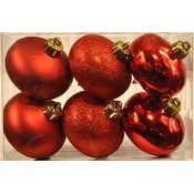 6 PK Red Smooth Onion Ornaments