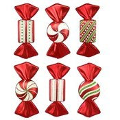 6 pack of Candy Ornaments