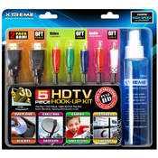 5 Piece HDTV Starter Kit                   4 6ft HDMI Cables 150ml Cleaner and 1 Micro Fiber Cloth