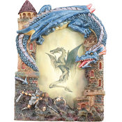 "3"" x 5"" Blue Dragon Picture Frame"