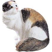 Scottish Fold Longhair Figurine