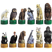 Chess Set - Endangered Species