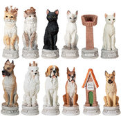 Chess Set - Dog Vs. Cat Set
