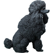 "7"" Black Poodle Figurine"