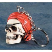 Pirate W/ Bandana Key Chain (Pack Of 12)