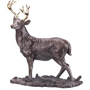 Bronze Deer Figurine