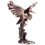 Figurine - Bronze Egret Landing