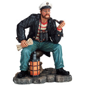 The Skipper Fishing Figurine