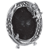 Pewter Fairy Picture Frame - Oval