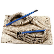 Skull Hands Pen Holder