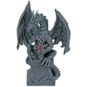 Dragon Holding The Cross Figurine