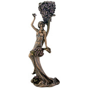 Art Nouveau - Blue Flower Lady Candleholder