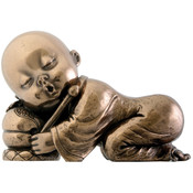"3.5"" Figurine - Joyful  Monk -  Resting"