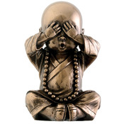 "3.5"" Figurine - Joyful  Monk - See No Evil"