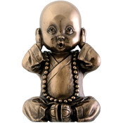 "3.5"" Figurine - Joyful  Monk - Hear No Evil"