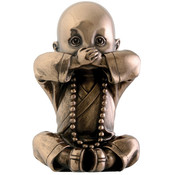 "3.5"" Figurine - Joyful  Monk - Speak No Evil"