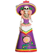 Figurine - Day of the Dead Purple Senorita
