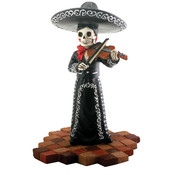 Figurine- Mariachi Band (Black)- Female Violin Player