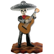 Figurine- Mariachi Band (Black)- Bassist