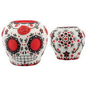 Day of the Dead Sugar Skull-Red