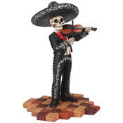 Figurine- Mariachi Band (Black)- Male Violin Player