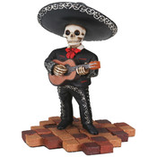 Figurine- Mariachi Band (Black)- Short Guitar Player