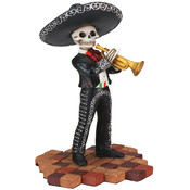 Figurine- Mariachi Band (Black)- Trumpet Player