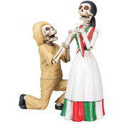 Figurine - Day of the Dead Courting Skulls