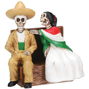 Figurine - Day of the Dead Sitting Skulls