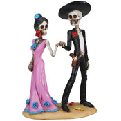 Figurine - Day of the Dead Holding Hands Skulls