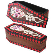 Day of the Dead Coffin Box w/ Removable Lid