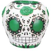 Day of the Dead Sugar Skull - Green