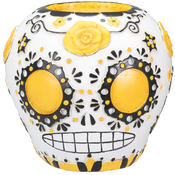 Day of the Dead Sugar Skull - Yellow