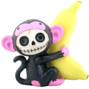 Furrybones Figurine - Black Munky