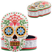 Day of the Dead Skull Box w/ Removable Lid