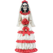Figurine - Day of the Dead Red & White Bride