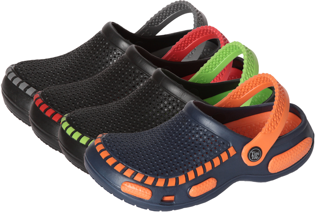 Tipi Toe Children's CLOGS with Neon Trim [1990094]