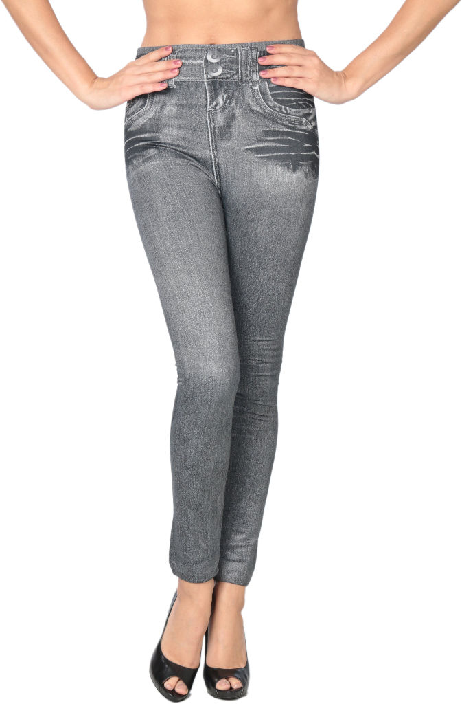 Women's Grey High-Waist Jeggings [1940219]