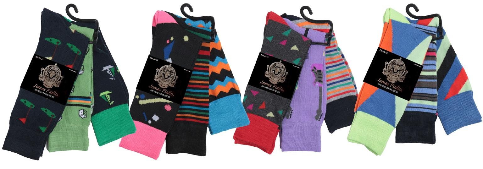 Men's Assorted Pattern DRESS Socks - Size 10-13 [2324760]