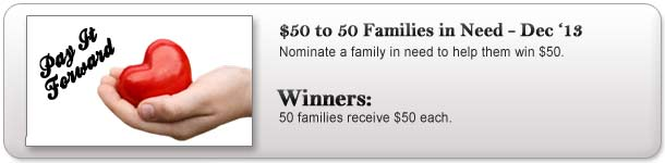$50 to 50 families