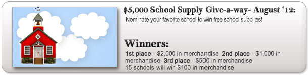 $5,000 School Supply Give-a-way