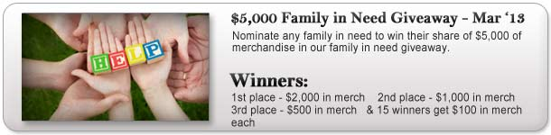 $5,000 Family in Need Giveaway