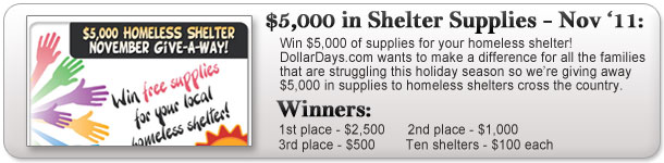 $5,000 Homeless Shelter Supply Giveaway