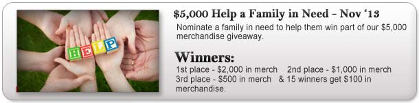 $5,000 Help a Family in Need Giveaway