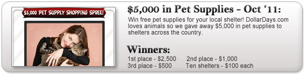 $5,000 Pet Supply Giveaway