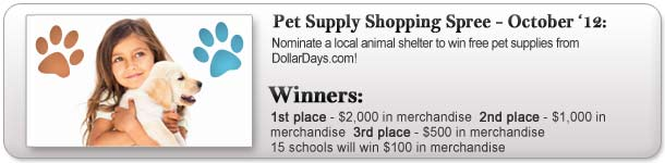 Pet Supply Shopping Spree